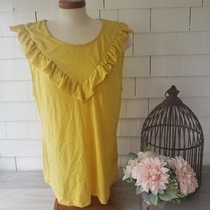 MAVE by Anthropologie yellow tank new with tags